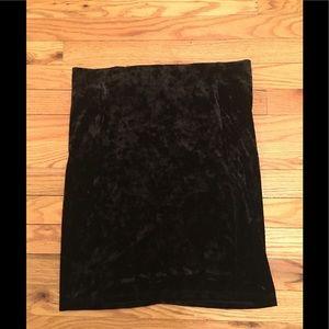 Forever 21 Black Velvet Mini Pencil Skirt